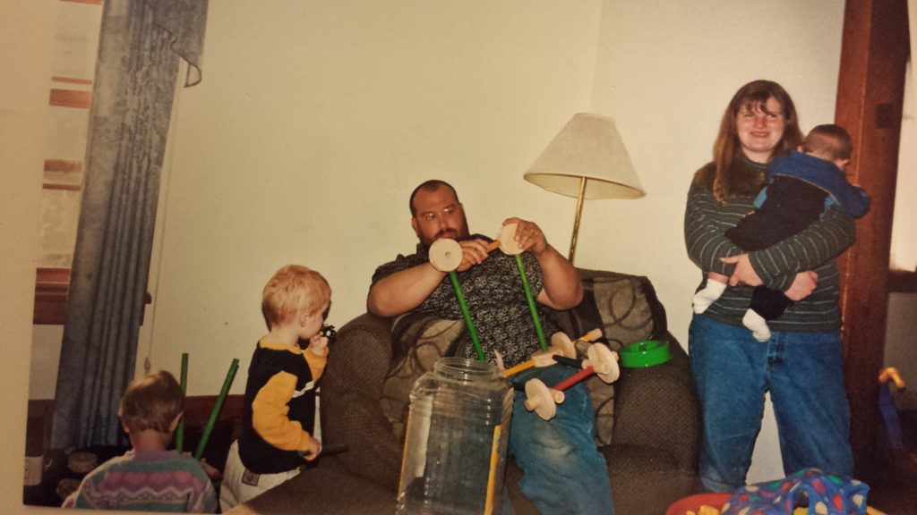 Here we are circa 2003. Those early days were crazy, but look -- still smiling!